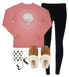"""""""Just Finished my Math Project"""" by lizzielane33 ❤ liked on Polyvore featuring UGG Australia, Kate Spade and Forever 21"""