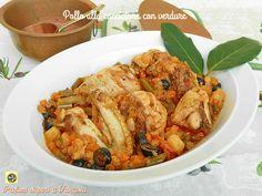 Pollo alla cacciatora con verdure, è una di quelle ricette molto conosciute e molto apprezzate ancora oggi che fanno parte dell'antica cucina contadina.