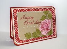"""I used the New Stamp Tv Kit """"Flowers & Frames"""". I water colored the flower with inks from Gina K. Designs as well. These all are available @ http://www.shop.ginakdesigns.comMade for: Gina K. Designs By: Karen Hightower"""