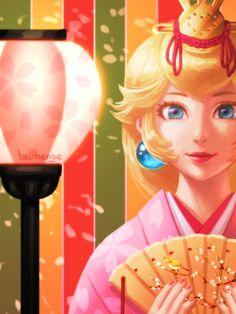 Princess Peach [Club Nintendo Original Calendar I went to Kyoto last week. Super Mario Bros, Super Mario Brothers, Chun Li, Peach In Japanese, Super Peach, Super Mario Peach, Peach Tumblr, Nintendo Princess, Princesa Peach