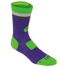 Show your crazy style. The new ASICS Craze Crew Sock will be the one to get you noticed. Volleyball Team, Sport Socks, Crew Socks, Asics, Sports, Size 12, Toe, Spandex, Clothes