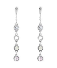 Sterling silver & pink droplet earrings Sale - BLISS Sale