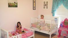 crib and todlle bed in 1 room    the lee family