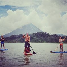 It's way too hot out! I'd much rather be #paddleboarding at #arenal - a #swim sounds divine! #costarica #crexperts