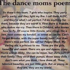 I like this poem but I think they. Should put more about the moms (nice stuff)  cause I also enjoy watching the moms .