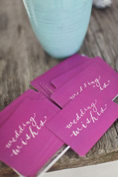 Radiant Orchid Wedding Wishes cards. #radiant #orchid #inspirations #nantucket #wedding