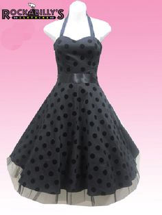 Black Polka Dot Rockabilly Dress