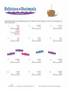 math worksheet : multiplying decimals worksheet  three digit by two digit with  : Multiplying Decimals Worksheet 6th Grade