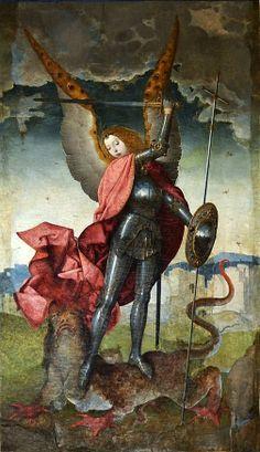San Miguel Arcángel, por Juan de Flandes (año 1505), en el Museo Diocesano/Catedral de Salamanca.