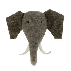 Elephants heads are in! The sweet soft kind for your safari themed nursery!