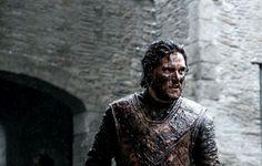 Jon Snow at winterfell after winning the battle of the bastards
