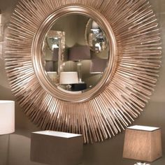 this beautiful extra large sun mirror exudes elegance the unique sun design will enhance and brighten up any home decor