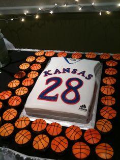 Ku Basketball Groom's Cake And Cupcakes  on Cake Central