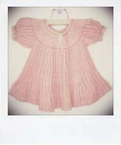 Gorgeous dusty pink crochet childrens dress c. 1940...... absolutely devine!! www.littlelostwonders.com.au