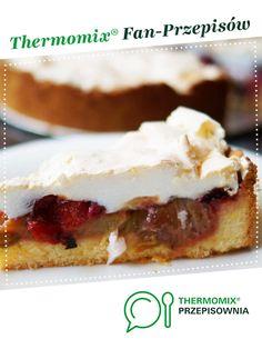 ciasto kruche z rabarbarem truskawkami i bezą jest to przepis stworzony przez użytkownika basia_gdynia. Ten przepis na Thermomix® znajdziesz w kategorii Słodkie wypieki na www.przepisownia.pl, społeczności Thermomix®. Cheesecake, Food And Drink, Pie, Torte, Cake, Cheesecakes, Fruit Cakes, Pies, Cherry Cheesecake Shooters