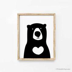 Print Bear Wall art Cute Home decor poster Kawaii by ARTsopoomc