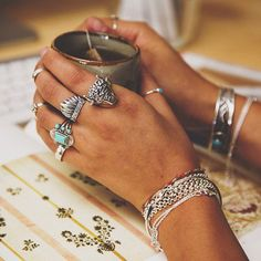 boho jewelry - statement rings