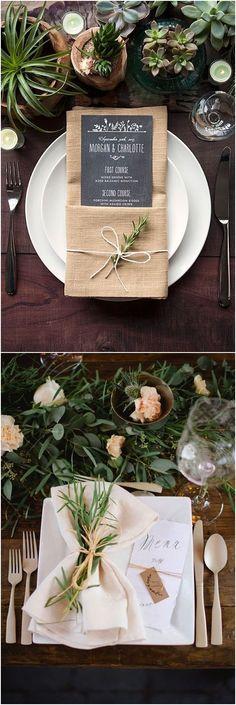 Greenery Wedding Place Setting Ideas  #greenweddings #weddingcenterpieces #wedding  http://www.deerpearlflowers.com/greenery-wedding-place-setting-ideas/2/