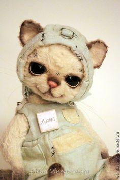 Мишки Тедди ручной работы. Ярмарка Мастеров - ручная работа. Купить котик Ланс. Handmade. Белый, авторская ручная работа