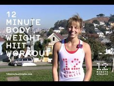 ▶ Sweat Hard - 12 Minute HIIT Body Weight Workout - YouTube