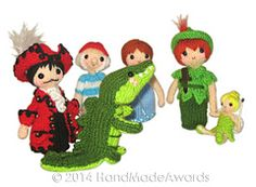 Ravelry: Peter Pan Finger Puppets pattern by Loly Fuertes