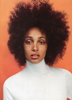 """global-fashions: """" Adwoa Aboah - Teen Vogue September 2014 photo by Daniel Jackson """" Teen Vogue, Pretty People, Beautiful People, Hair Colorful, Curly Hair Styles, Natural Hair Styles, Natural Beauty, Daniel Jackson, Pelo Natural"""