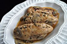 Tender boneless, skinless chicken breasts and mushrooms in a rich Parmesan sauce made in the pressure cooker in minutes.
