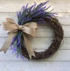 Excited to share this item from my shop: Lavender grapevine wreath/grapevine /spring wreath /summer wreath /flower wreath /everyday wreath /Mother's Day wreath /farmhouse/front door Mothers Day Wreath, Valentine Day Wreaths, Valentine Decorations, Christmas Wreaths, Spring Decorations, Valentine Box, Valentine Ideas, Valentine Crafts, Lavender Wreath