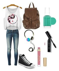 Summer doesn't last long, enjoy it!:) by brynn-cece-cunningham on Polyvore featuring polyvore, fashion, style, rag & bone/JEAN, Converse, Bobbi Brown Cosmetics, Essie and Frends