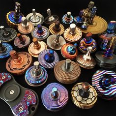 Want and need these amazing spinning tops! If you like these beautiful colorful spinning tops then check out our super awesome Dizzy Spinners at www.dizzyspinners.com. We have lots of bright colors and cool designs. Keep your hands busy and your mind clear...
