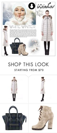 """""""White Winter"""" by water-polo ❤ liked on Polyvore featuring CÉLINE, Michael Antonio, women's clothing, women's fashion, women, female, woman, misses, juniors and polyvoreeditorial"""