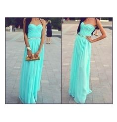 Teal dress....this is ideal or my wedding dresses