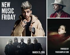 THIS WEEK'S RELEASES: ZAYN • Anthony Hamilton • Judas Priest • Bob Mould • Elliphant • Birdy • Joe Bonamassa • Asking Alexandria • etc. - http://www.pauseandplay.com/new-releases-march-25-2016  #NewMusicFriday #NewReleases