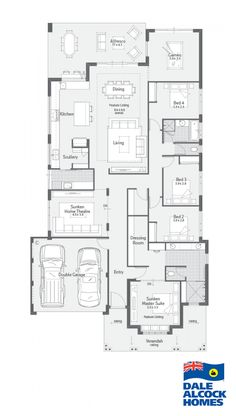 Find our selection of premium display homes for sale. If you have ever dreamed of living in a Dale Alcock home, now is your chance. Bedroom House Plans, Dream House Plans, Modern House Plans, House Floor Plans, Dream Houses, House Floor Design, Home Design Floor Plans, Australian House Plans, Australian Homes