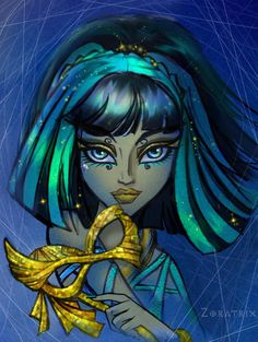 Cleo; Ghouls Rule Portrait - monster-high Fan Art