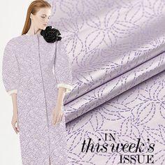 Light Purple Jacquard Black Brocade Fabric with by CosyFabric