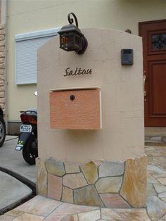 ディーズガーデンのポストを使ったナチュラルな門柱