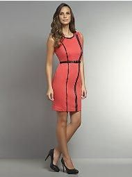 CityKnit Collection Dress with Zippers - New York & Company