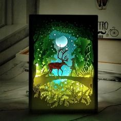 PaperCut Light Shadow Box is your ready-made paper cutting art decoration!🖼️ Paper designs tell their own unique stories. It may be the tale of an adventurous 🏞️time out, or simple artistic…More 8 3 4 7 1 a superb collection of Token of 3d Paper Art, Paper Tree, Paper Artwork, Paper Crafts, Diy Paper, Tree Artwork, Shadow Light Box, Shadow Box Art, Paper Light