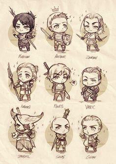 Dragon Age chibis Army by OkenKrow.deviantart.com on @DeviantArt