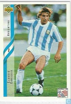 Claudio Caniggia of Argentina in action in 1990.