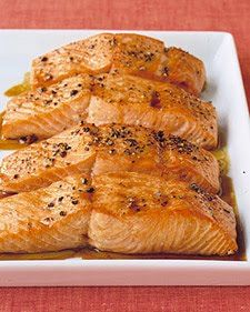 salmon with pineapple rice