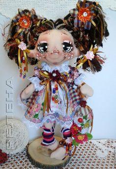 Купить Текстильная кукла Домовушка Кареглазка Аришка.Интерьерная кукла. - кукла, текстильная кукла