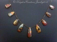 Antique Bronze & Rainbow Terra Jasper with by KaydonCreatives, $60.00