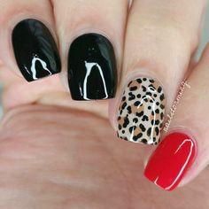 Nails, cheetah nail designs, nail art designs, wild nail designs, l Fancy Nails, Trendy Nails, Diy Nails, Cute Nails, Glam Nails, Wild Nail Designs, Simple Nail Designs, Nail Art Designs, Nails Design