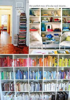 I like the corner book tower. Maybe build a tower with different shelves so its easy to pick a book. Perfect for a space in my daughters room