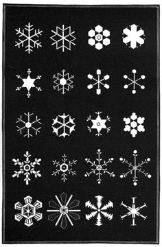 A collection of snow flakes