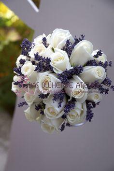 Brautstrauß mit Lavendel Mehr