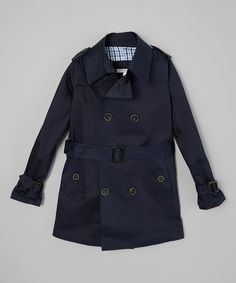 Another great find on #zulily! Navy Trench Coat - Toddler & Boys #zulilyfinds