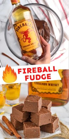 This Fireball Fudge is a HUGE hit! Make it for someone you love . . . or yourself. I don't judge. Fudge Recipes, Chocolate Recipes, Delicious Recipes, Baking Recipes, Easy Recipes, Cookie Recipes, Snack Recipes, Dessert Recipes, Yummy Food